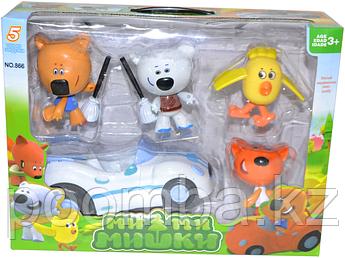 Мимишки 4 героя и машинка
