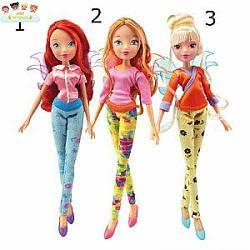 Кукла winx club винтаж 3 шт в ассортименте