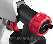 Краскопульт (краскораспылитель) электрич, ЗУБР КПЭ-350, HVLP, 0.8л, краскоперенос 0-700мл/мин, вязкость краски 60 DIN/сек, сопло 1.8мм, 350Вт, фото 3