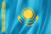 Флаг РК 1х2м 100х200см, политекс, фото 1