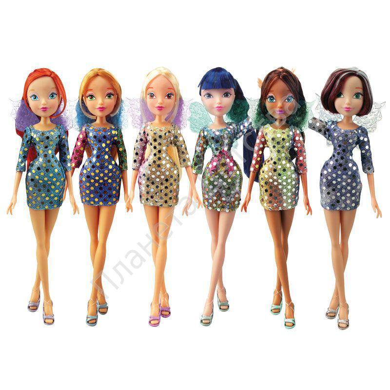 Кукла winx club диско 6шт в ассортименте