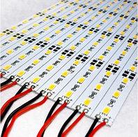 Светодиодная алюминиевая полоса 50 см белая SMD 5630, фото 1
