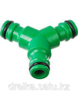Тройник РОСТОК (соединитель-соединитель-соединитель), 426375, пластик