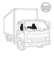 Чехлы для сидений грузовиков с правым рулем GRU-001