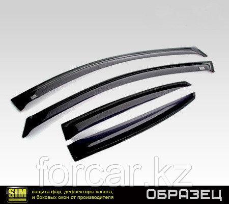 Дефлекторы окон SIM для Rio  Sedan  2011 - , темные, на 4 двери