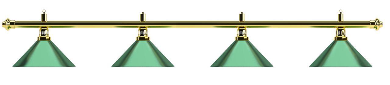 Бильярдный светильник 4 плафона «Evergreen»