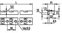 DKC С-обр. профиль для пров. лотка 41х21, L400, толщ.1,5 мм, фото 1