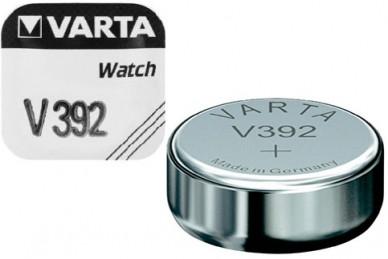 Батарейка серебряно-цинковая часовая 392, Varta, Германия