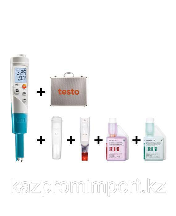 Стартовый комплект testo 206-pH1 - Карманный pH-метр с принадлежностями