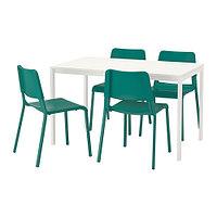 Стол и 4 стула МЕЛЬТОРП / ТЕОДОРЕС зеленый ИКЕА, IKEA, фото 1