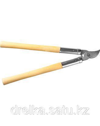 Сучкорез РОСТОК, 40206_z01, сталь Ст45, никелированное покрытие, деревянные рукоятки, рез до 25 мм, 500 мм