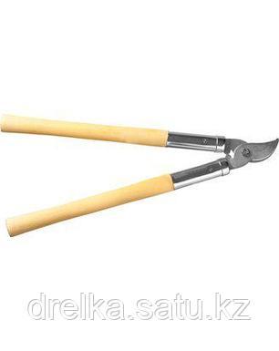 Сучкорез РОСТОК, 40206_z01, сталь Ст45, никелированное покрытие, деревянные рукоятки, рез до 25 мм, 500 мм, фото 2