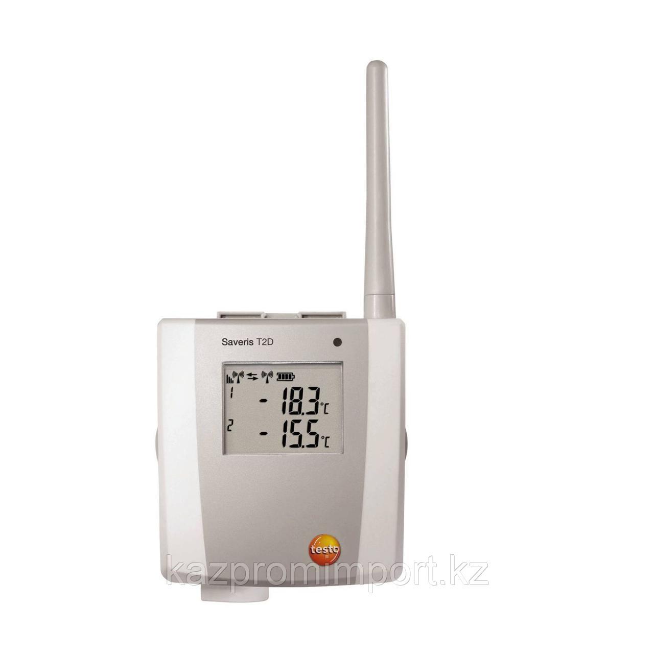 Testo Saveris T2 D - 2-х канальный радиозонд температуры, с дверным контактом и дисплеем