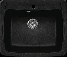 Кухонная мойка из искусственного камня Gran-Stone GS-03  (603х515 мм)  черный