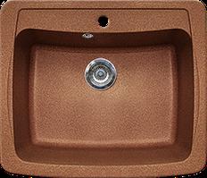Кухонная мойка из искусственного камня Gran-Stone GS-03  (603х515 мм)  терракот