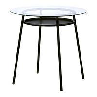 Стол АЛЬСТА металлический черный ИКЕА, IKEA