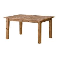 Стол раздвижной СТУРНЭС морилка,антик ИКЕА, IKEA, фото 1