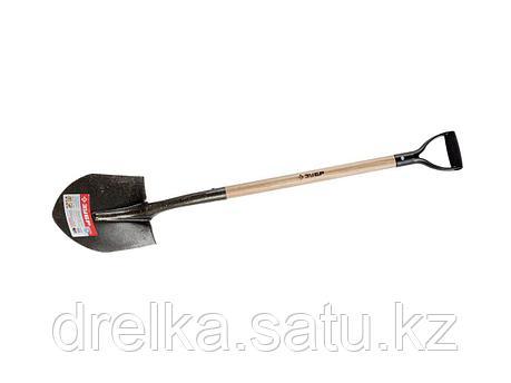 Лопата ЗУБР МАСТЕР ЗАВИДОВО трапециевидная, деревянный черенок из дуба, пластиковая рукоятка, 305х235/210x1200, фото 2