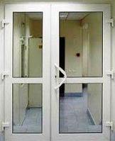 Двери металлопластиковые (белые)