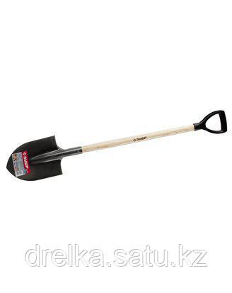 Лопата ЗУБР МАСТЕР ФАВОРИТ штыковая, деревянный черенок из ясеня, пластиковая рукоятка, 290х205х1200мм