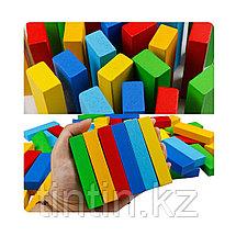 Игра Дженга Цветная 54 брусков - 29х8х8см, AcoolToy, фото 3
