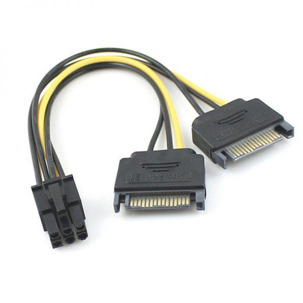 Переходник 2 sata -> 6 pin дополнительное питание видеокарты