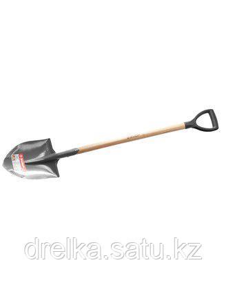 Лопата ЗУБР МАСТЕР БЕРКУТ штыковая, деревянный черенок из ясеня, пластиковая рукоятка, 295х228х1200мм