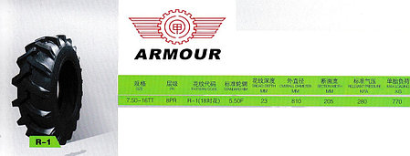 7,50-16 8PR R1 TT ARMOUR, фото 2
