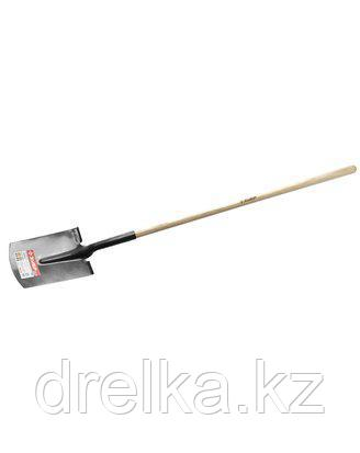 Лопата ЗУБР МАСТЕР ФАВОРИТ прямоугольная, деревянный черенок из ясеня, 310х215х1500мм, 4-39511_z01