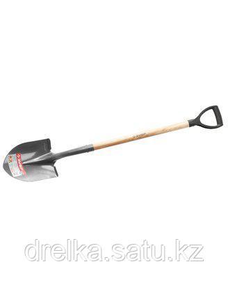 Лопата ЗУБР МАСТЕР ФАВОРИТ садовая, деревянный черенок из ясеня, пластиковая рукоятка, 295x215x1200мм, фото 2