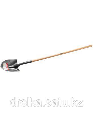Лопата ЗУБР МАСТЕР ЗАВИДОВО штыковая, деревянный черенок из дуба, 290х210x1500мм, 39351_z01