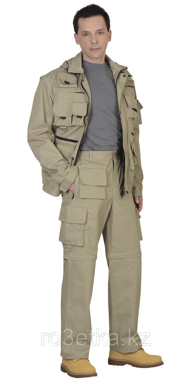 "Костюм ""ТИГР""летний: куртка, брюки песочный тк. Rodos (245 гр/кв.м)"