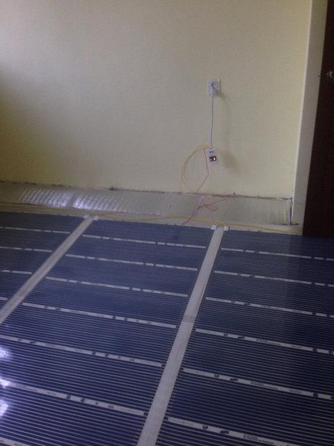 Электрический инфракрасный пленочный теплый пол -1