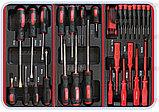 Тележка инструментальная с набором инструментов SPIN 196 предметов, фото 3