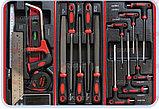 Тележка инструментальная с набором инструментов SPIN 196 предметов, фото 6