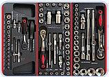 Тележка инструментальная с набором инструментов SPIN 196 предметов, фото 2