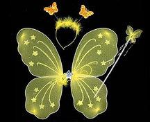 Набор феи крылья и волшебная палочка (желтый)