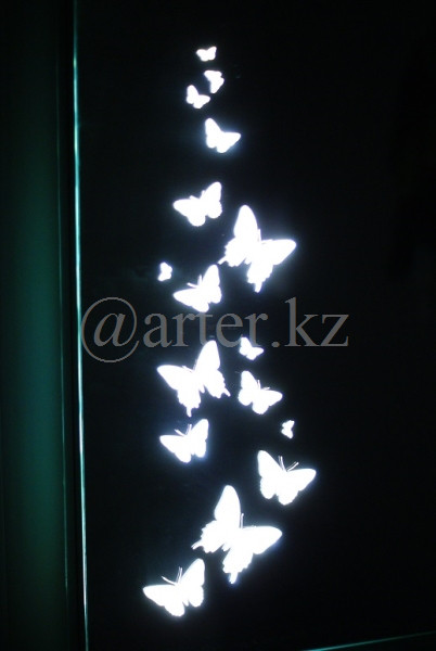 Зеркала с LED-подстветкой и пескоструйным рисунком