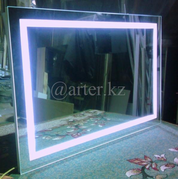 Зеркала с LED-подсветкой и пескоструйным рисунком, 800(В)х1000(Ш)мм