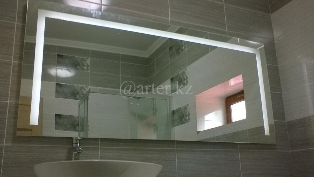 Зеркала с LED- подстветкой и пескоструйным рисунком, 600(В)х1500(Ш)мм