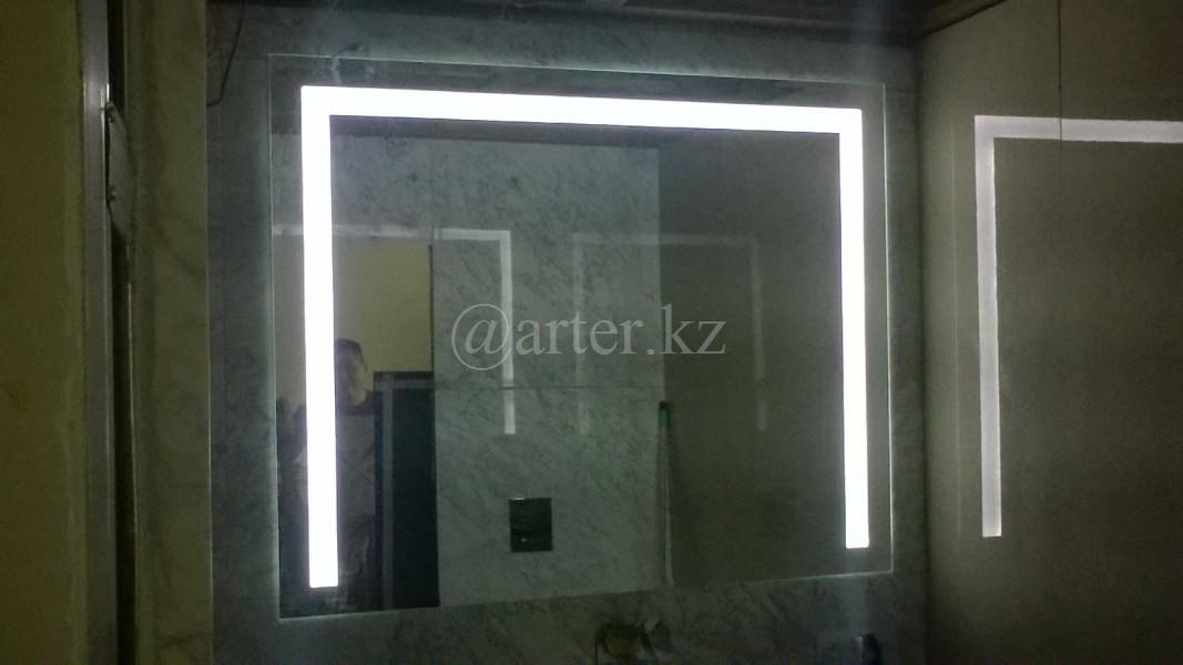 Зеркала с LED-подстветкой и пескрструйным рисунком, 1000(Ш)х700(В)мм