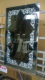 Зеркало с LED-подстветкой и пескоструйным рисунком