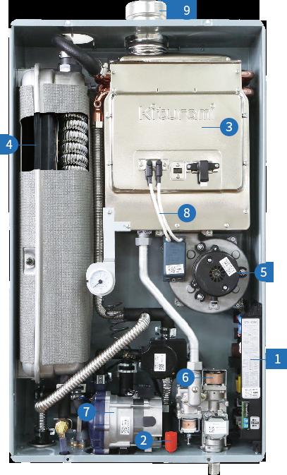 Газовый настенный котел Kiturami Twin Alpha 13R + Дымоход в подарок - фото 2