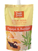 Крем-пена для ванн с увлажняющим молочком Papaya & bamboo