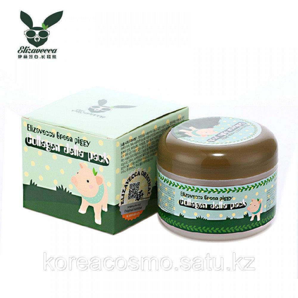 Elizavecca коллагеновая маска Green Piggy Collagen Jella Pack
