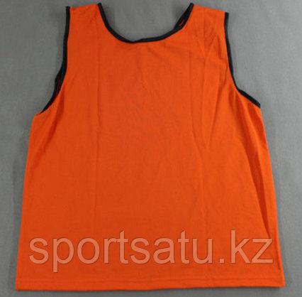 Футбольные накидки и манишки взрослые оранжевый