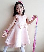 Платье с бантиком для девочки, цвет розовый