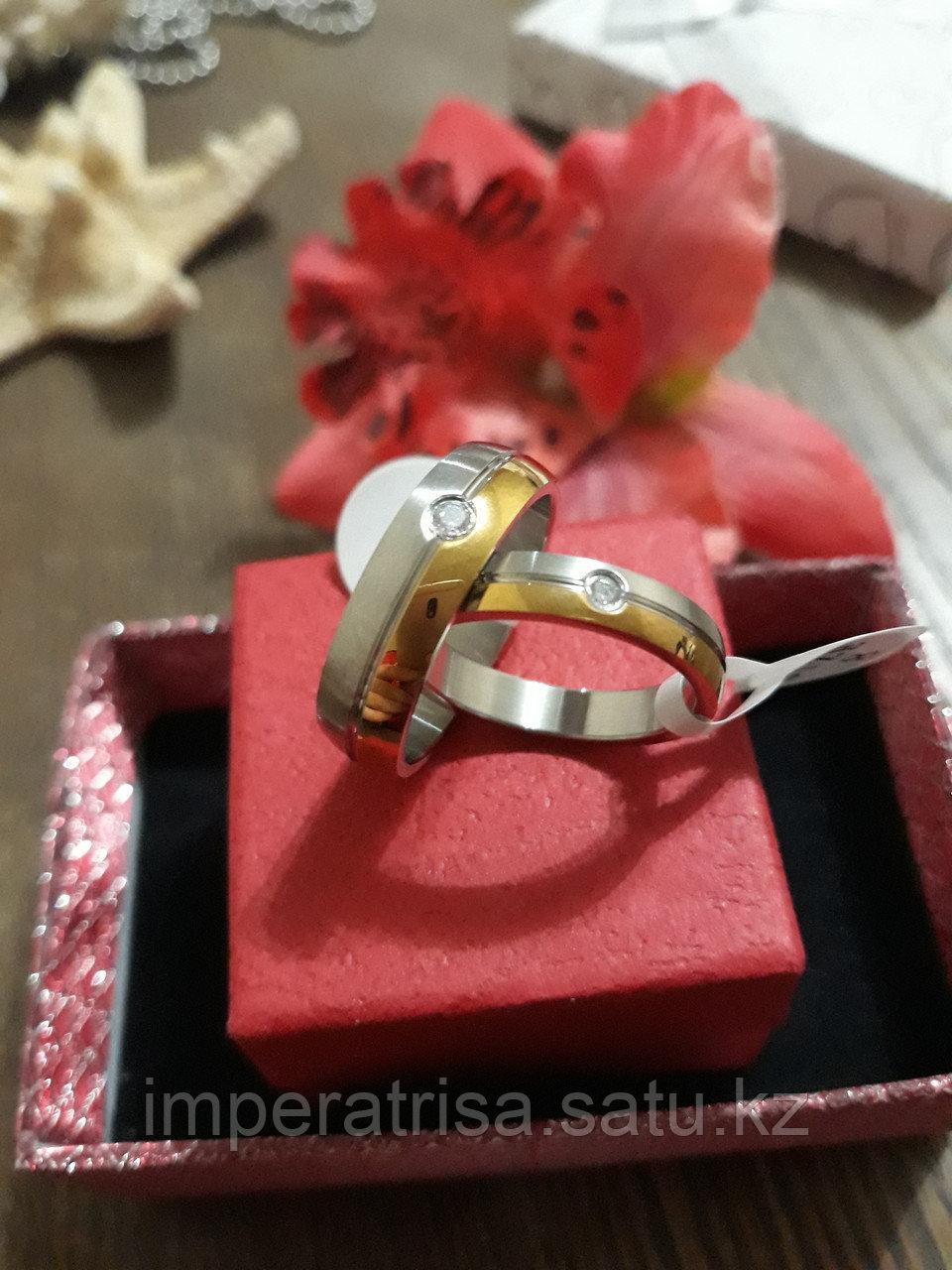 """Парные кольца для влюблённых """"Линия любви"""""""