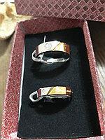 """Парные кольца для влюблённых """"Half of love"""" под зололото, фото 1"""