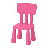 Стул детский МАММУТ д/дома/улицы розовый ИКЕА, IKEA    , фото 1